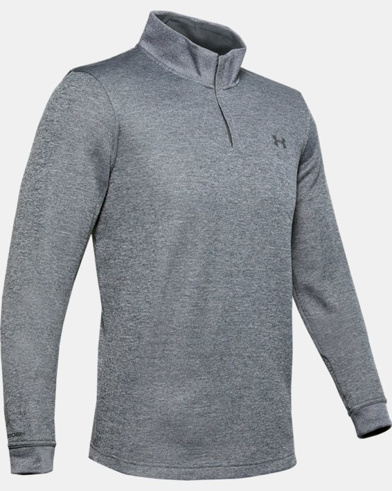 Men's UA Storm SweaterFleece ¼ Zip, Gray, pdpMainDesktop image number 4