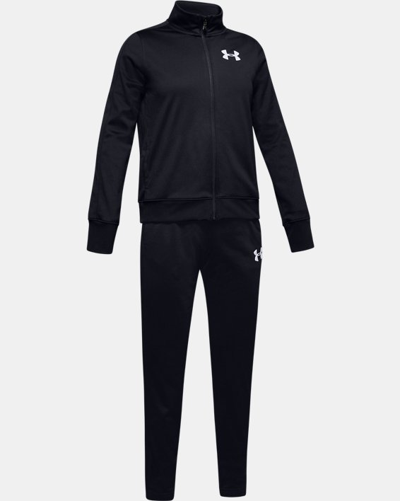 Girls' UA Knit Track Suit, Black, pdpMainDesktop image number 0