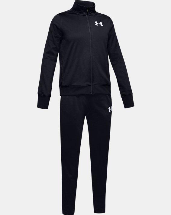 Girls' UA Knit Track Suit, Black, pdpMainDesktop image number 0