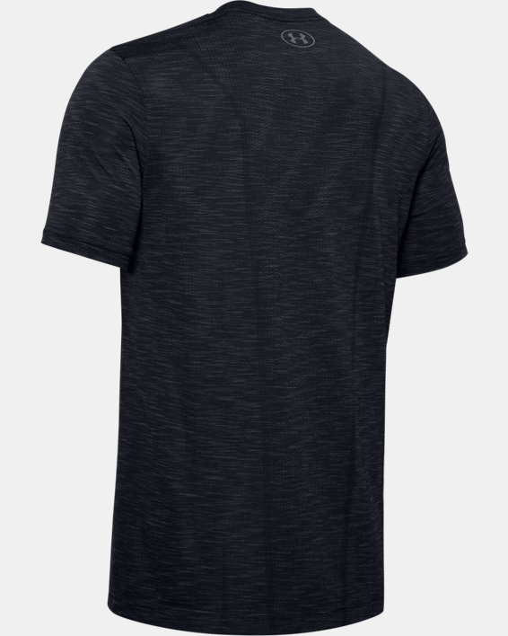Men's UA Seamless Short Sleeve, Black, pdpMainDesktop image number 5