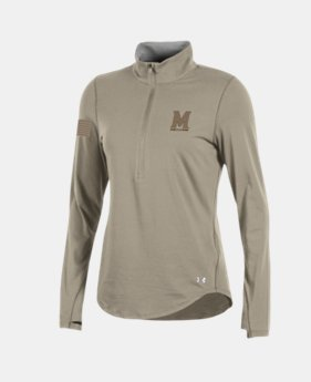 Women's Charged Cotton® ½ Zip Collegiate  1  Color Available $42
