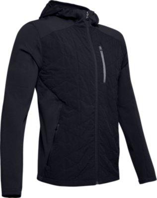 Black Under Armour ColdGear Reactor Hybrid Lite Mens Running Jacket