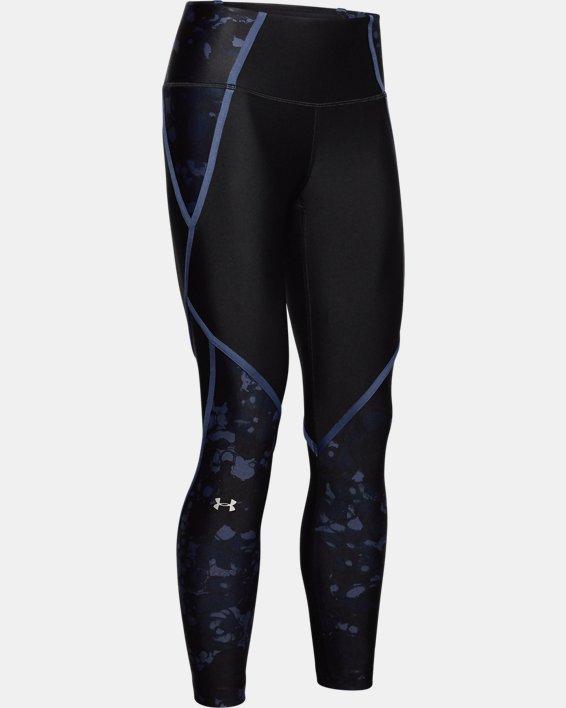 Women's HeatGear® Armour Edgelit Print Ankle Crop, Black, pdpMainDesktop image number 4