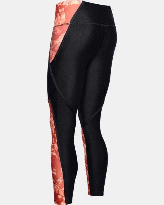 Women's HeatGear® Armour Edgelit Print Ankle Crop, Black, pdpMainDesktop image number 5