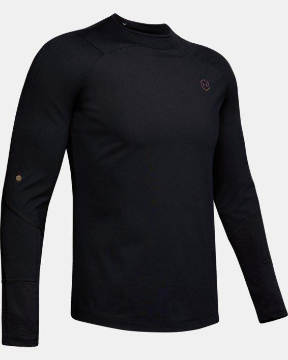 Men's UA RUSH™ ColdGear® Mock, Black, pdpMainDesktop image number 3