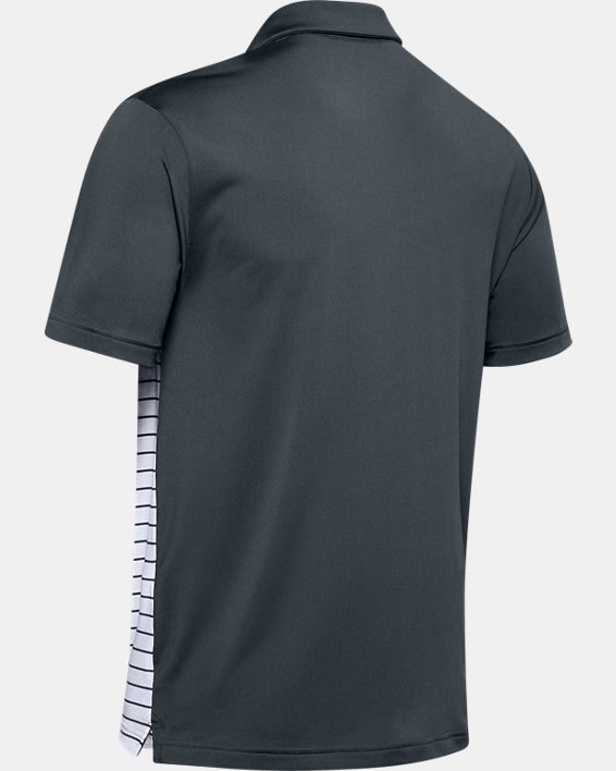 Men's UA Stripe Mix-Up Polo, Gray, pdpMainDesktop image number 5