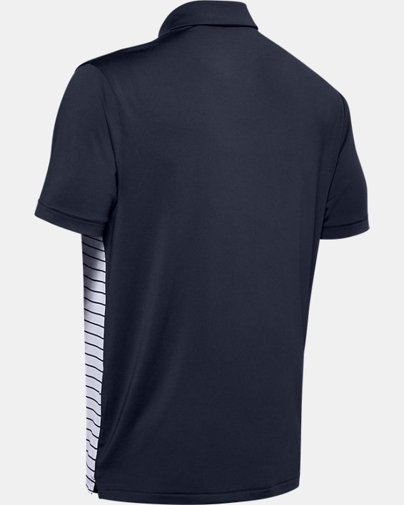 Men's UA Stripe Mix-Up Polo, Navy, pdpMainDesktop image number 5