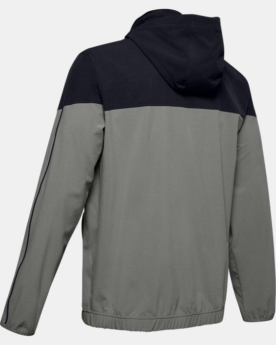 Men's UA RECOVER™ Woven Warm-Up Jacket, Green, pdpMainDesktop image number 5