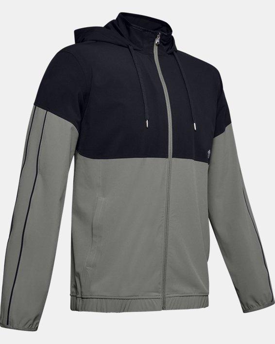 Men's UA RECOVER™ Woven Warm-Up Jacket, Green, pdpMainDesktop image number 4