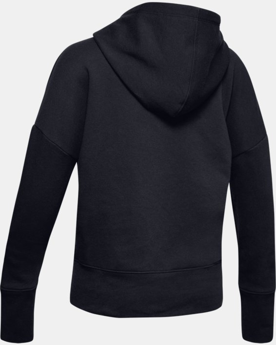 Girls' UA Sportstyle Fleece Hoodie, Black, pdpMainDesktop image number 5