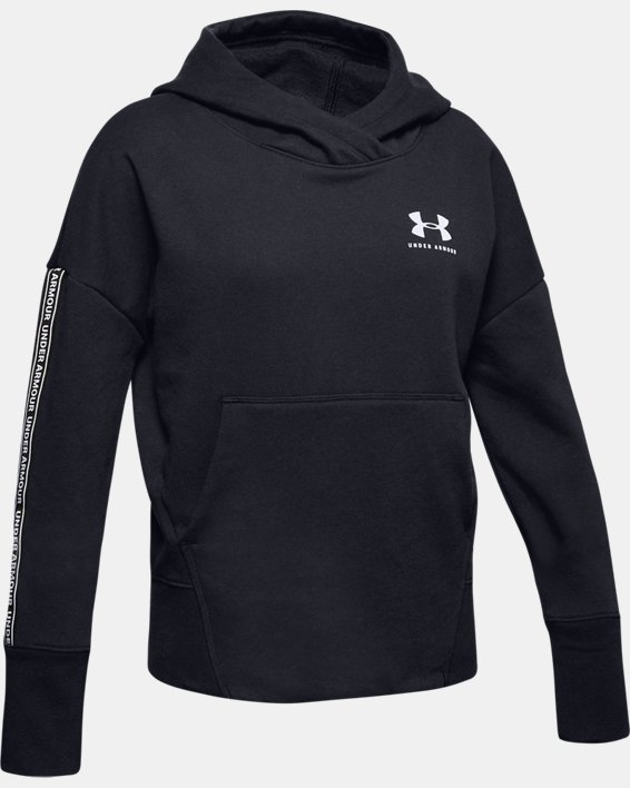 Girls' UA Sportstyle Fleece Hoodie, Black, pdpMainDesktop image number 4