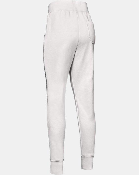 Pantalon UA Sportstyle Fleece pour fille, White, pdpMainDesktop image number 5