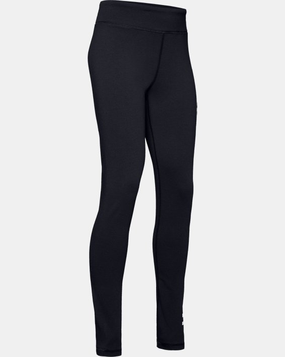 Girls' UA Sportstyle Branded Leggings, Black, pdpMainDesktop image number 4