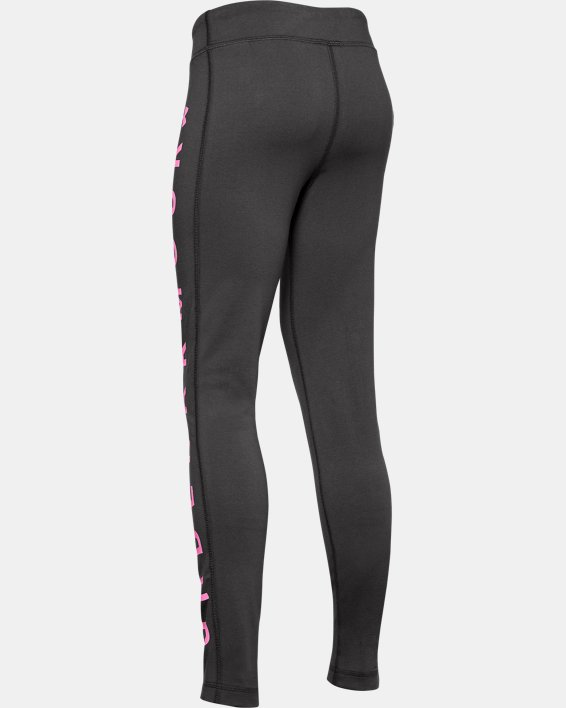 Girls' UA Sportstyle Branded Leggings, Gray, pdpMainDesktop image number 1
