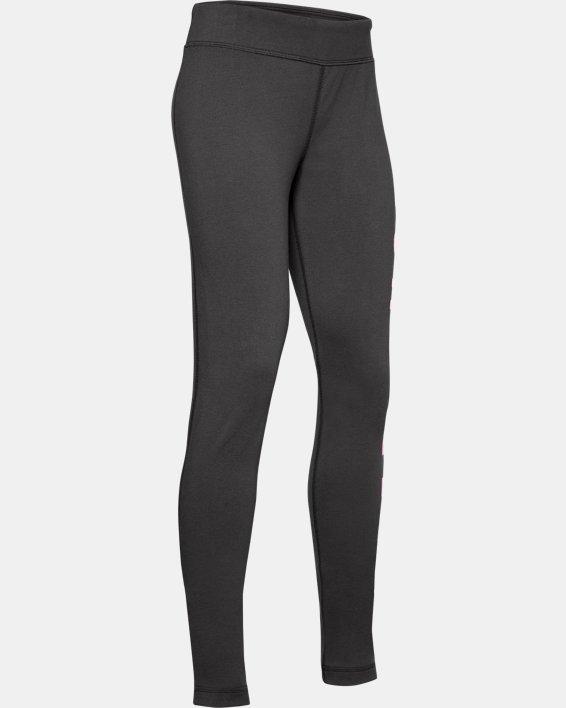 Girls' UA Sportstyle Branded Leggings, Gray, pdpMainDesktop image number 0