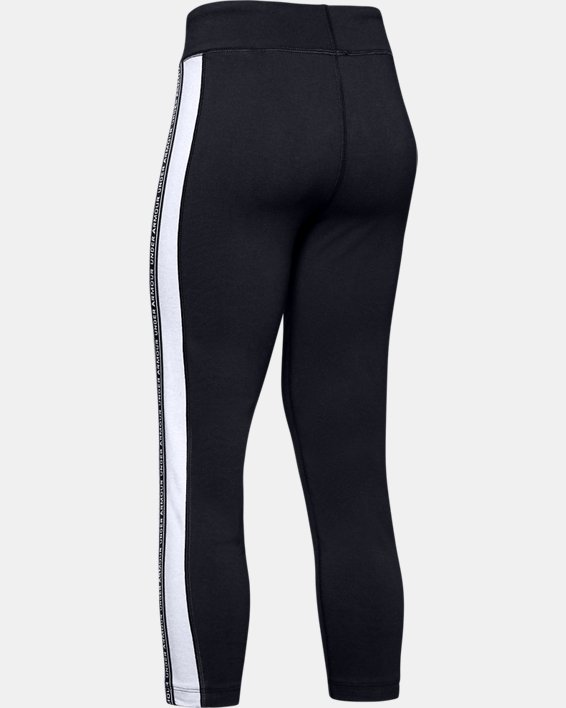 Girls' UA Sportstyle Taped Crop, Black, pdpMainDesktop image number 5