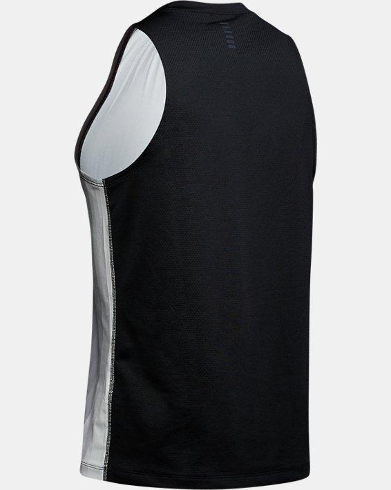 Men's UA RUSH™ Run Track Singlet, Black, pdpMainDesktop image number 5