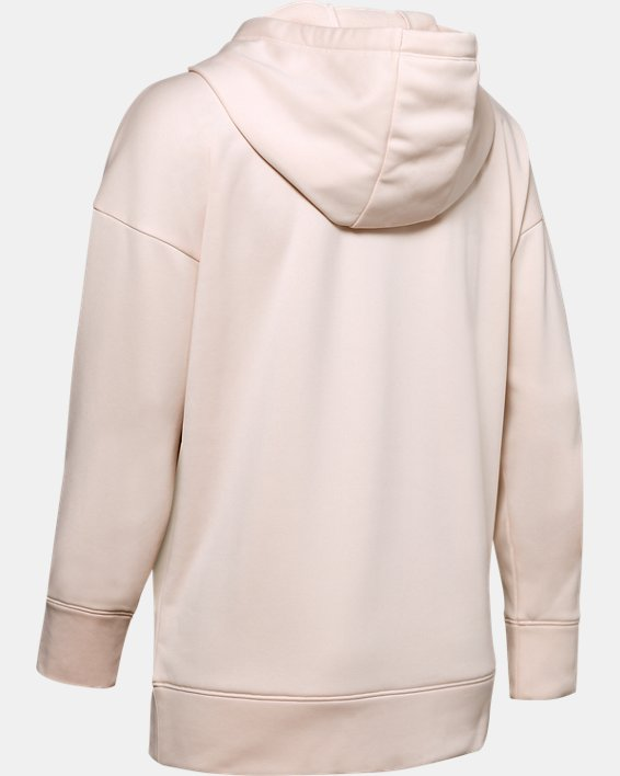 Women's Armour Fleece® Chenille Logo Hoodie, Pink, pdpMainDesktop image number 5