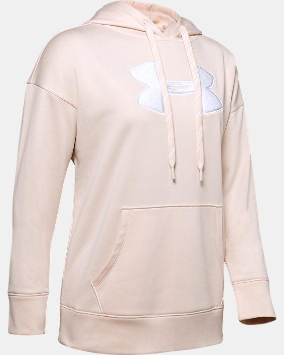 Women's Armour Fleece® Chenille Logo Hoodie, Pink, pdpMainDesktop image number 4