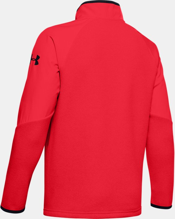 Boys' ColdGear® Infrared ½ Zip Hoodie, Red, pdpMainDesktop image number 1