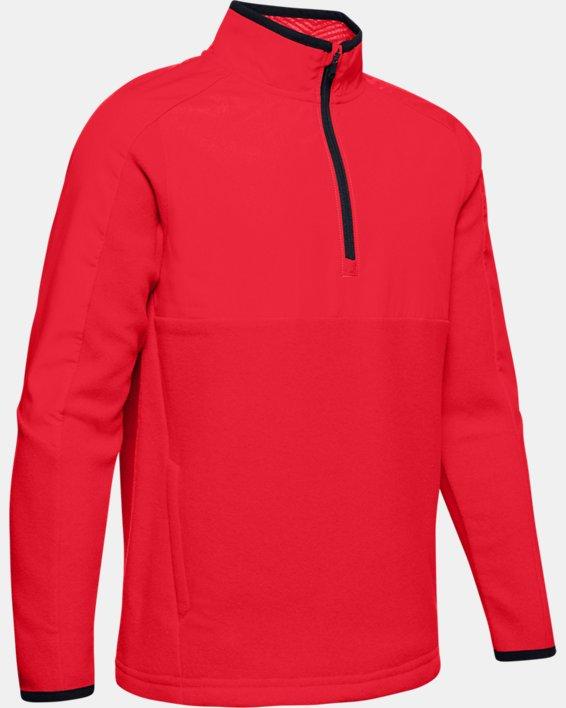 Boys' ColdGear® Infrared ½ Zip Hoodie, Red, pdpMainDesktop image number 0