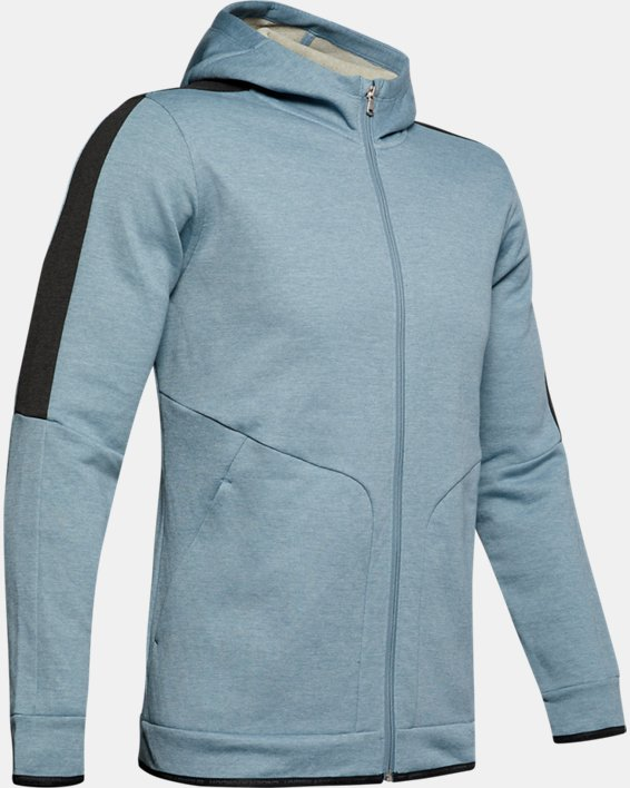 Men's UA RECOVER™ Fleece Full Zip, Gray, pdpMainDesktop image number 3