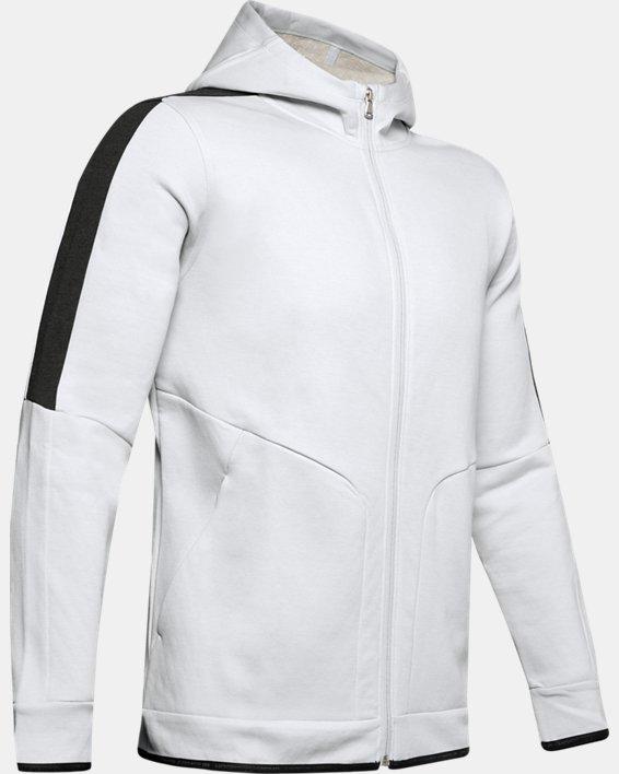 Men's UA RECOVER™ Fleece Full Zip, Gray, pdpMainDesktop image number 3