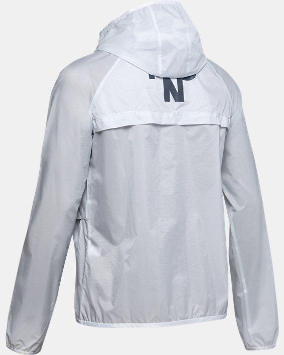 Women's UA Qualifier Storm Graphic Packable Jacket, Gray, pdpMainDesktop image number 4