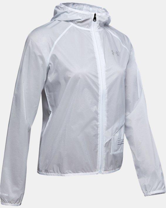 Women's UA Qualifier Storm Graphic Packable Jacket, Gray, pdpMainDesktop image number 3