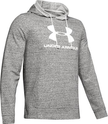 Under Armour Mens Sportstyle Terry Logo Hoodie Grey Sports Running Gym