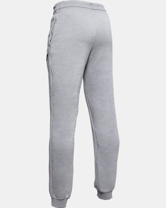 Boys' Project Rock Warm-Up Pants, Gray, pdpMainDesktop image number 1