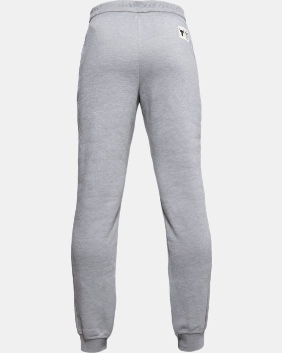 Boys' Project Rock Warm-Up Pants, Gray, pdpMainDesktop image number 2