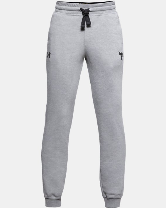 Boys' Project Rock Warm-Up Pants, Gray, pdpMainDesktop image number 3