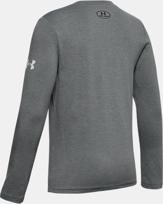Boys' Project Rock Iron Paradise Graphic T-Shirt, Gray, pdpMainDesktop image number 1