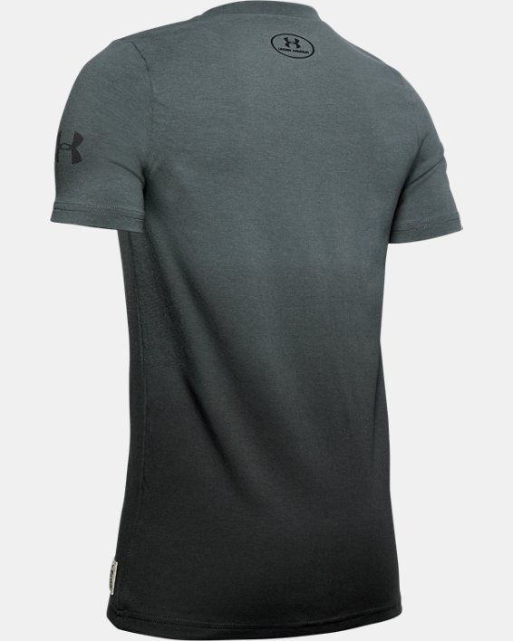 Boys' Project Rock Bull Graphic T-Shirt, Gray, pdpMainDesktop image number 1