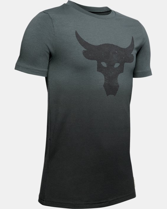 Boys' Project Rock Bull Graphic T-Shirt, Gray, pdpMainDesktop image number 0