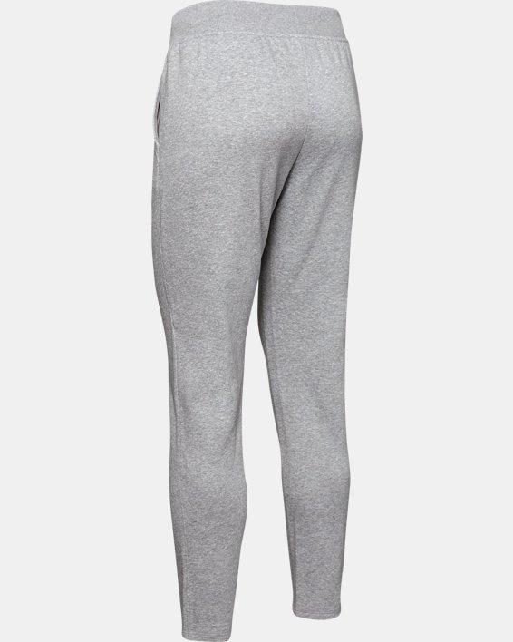 Women's UA Rival Fleece Open Hem Pants, Gray, pdpMainDesktop image number 5