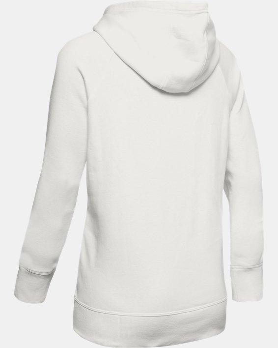 Women's UA Rival Fleece Sportstyle Graphic Hoodie, White, pdpMainDesktop image number 5