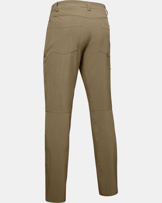 Men's UA Flex Pants, Brown, pdpMainDesktop image number 4