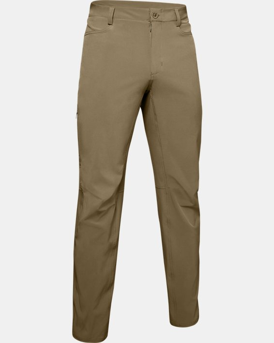 Men's UA Flex Pants, Brown, pdpMainDesktop image number 3
