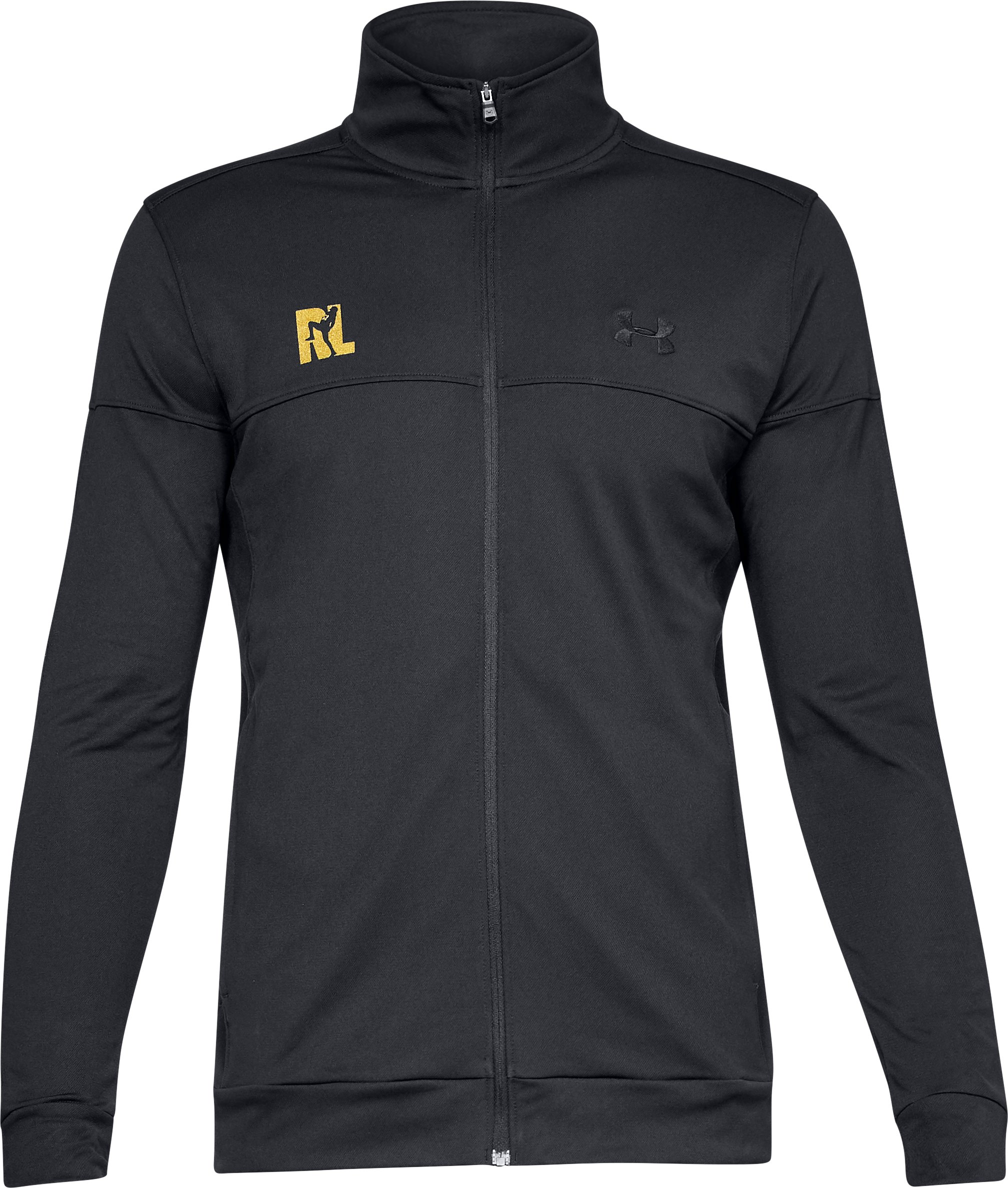 Men's UA Ray Lewis Pique Track Jacket, Black ,