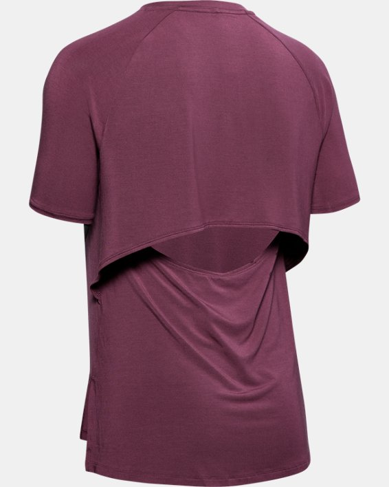 Women's UA Modal Short Sleeve, Purple, pdpMainDesktop image number 5