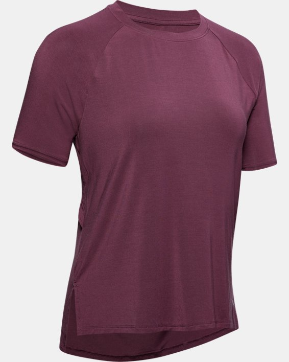 Women's UA Modal Short Sleeve, Purple, pdpMainDesktop image number 4