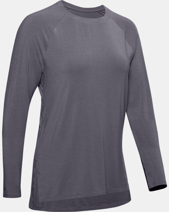 Women's UA Modal Long Sleeve, Gray, pdpMainDesktop image number 4