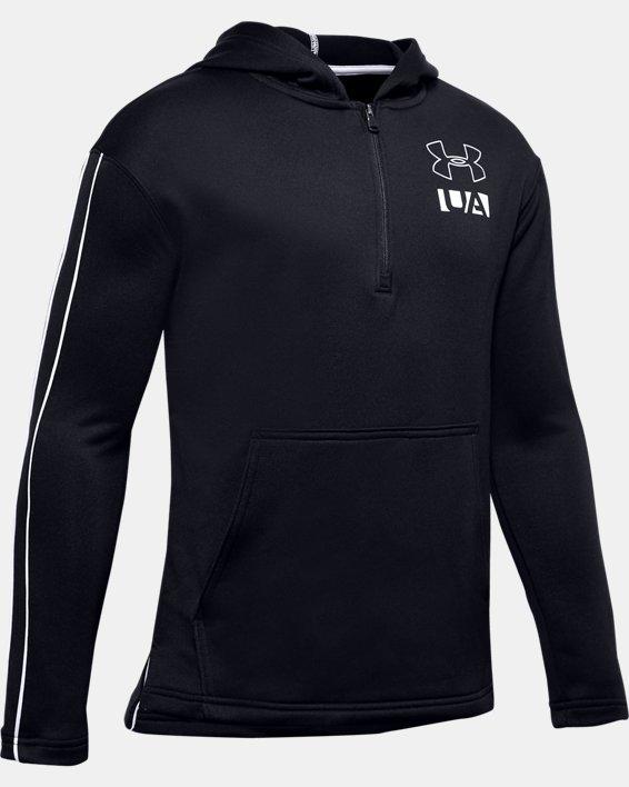 Boys' UA Sportstyle ½ Zip Hoodie, Black, pdpMainDesktop image number 0