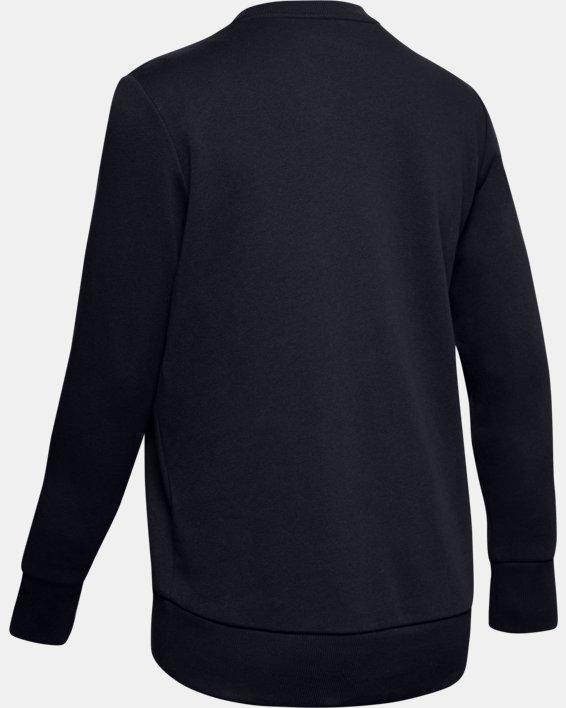 Women's UA Favorite Fleece Sportstyle Graphic Crew, Black, pdpMainDesktop image number 5