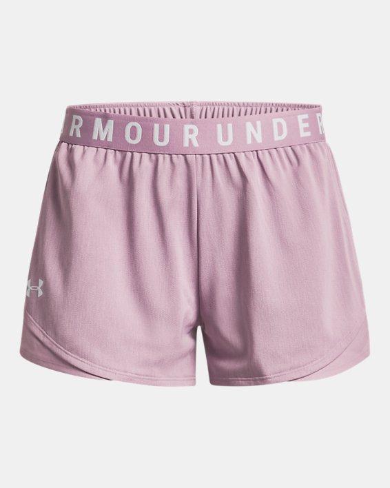 Women's UA Play Up Shorts 3.0 Twist, Pink, pdpMainDesktop image number 4