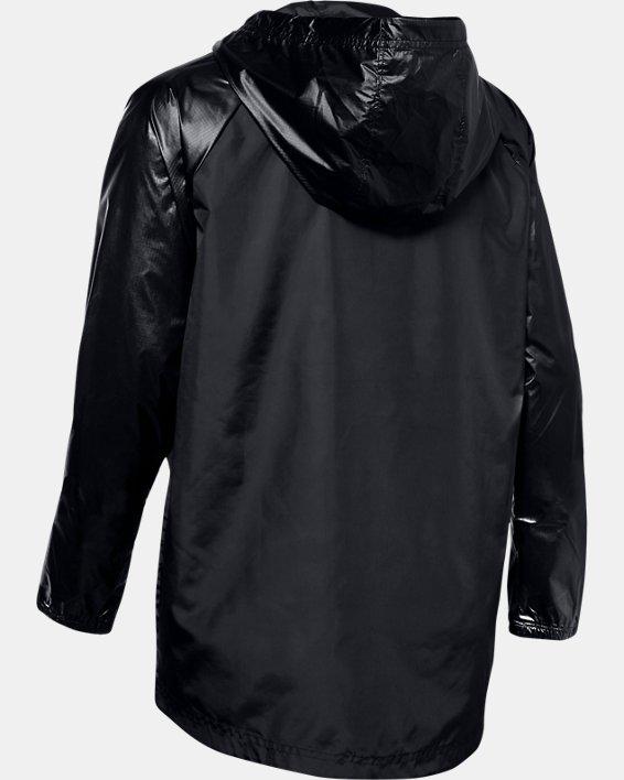 Women's UA Metallic Woven Full Zip, Black, pdpMainDesktop image number 5