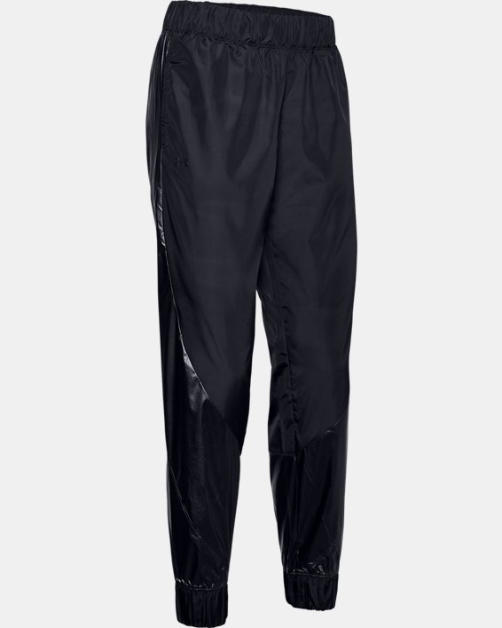 Women's UA Metallic Woven Pants, Black, pdpMainDesktop image number 4