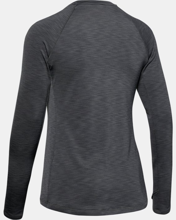 Women's UA Cozy Crew Long Sleeve, Gray, pdpMainDesktop image number 5